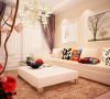 瀚海泰苑88平方两室两厅装修案例,沙发背景墙装修效果图