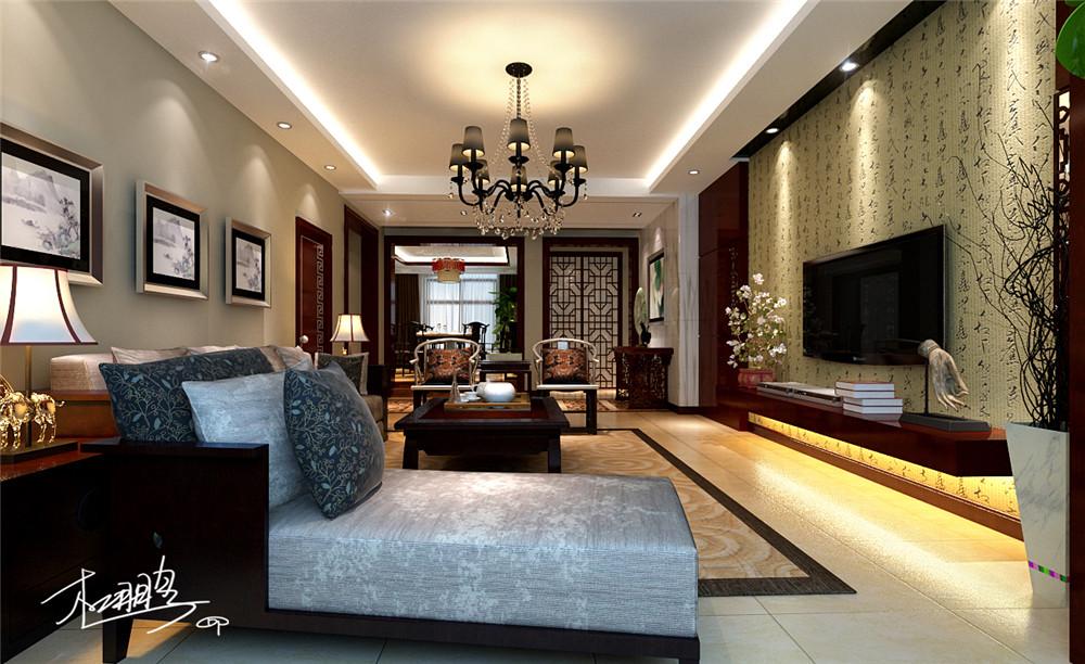 中式 小资 80后 收纳 白领 四居 客厅图片来自shichuangyizu在悦泽苑160平米传统中式的分享