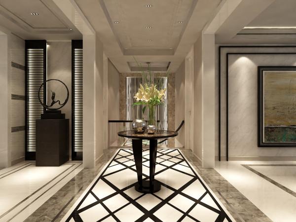 西山壹号院,350平米 现代简约的舒适生活体验 门厅 效果