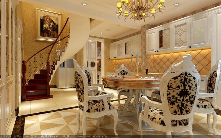 欧式 白领 收纳 80后 四居 餐厅图片来自shichuangyizu在精细雕琢顺鑫花语的分享