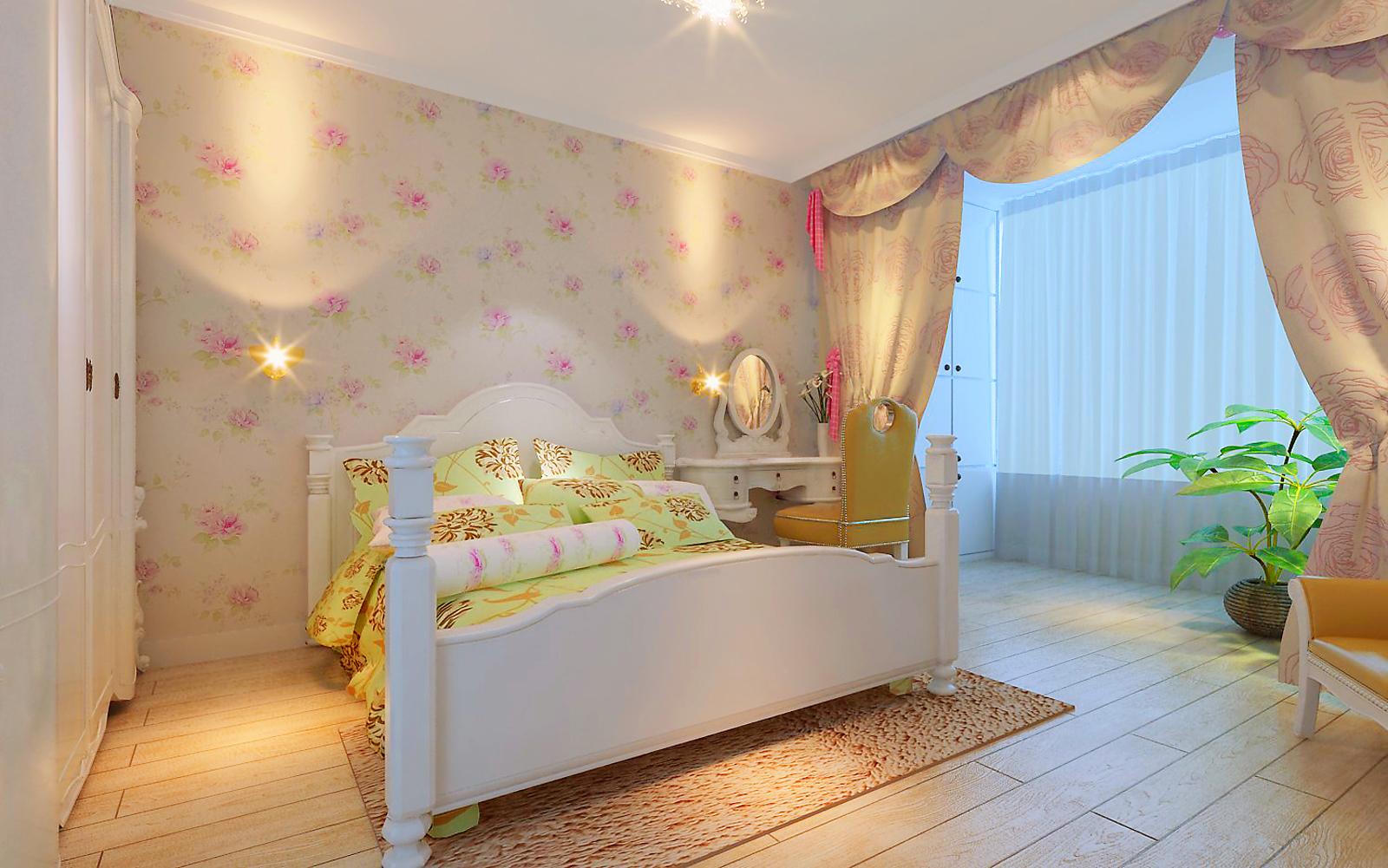 卧室图片来自今朝装饰老房专线在90平,韩式田园风,厂洼小区的分享