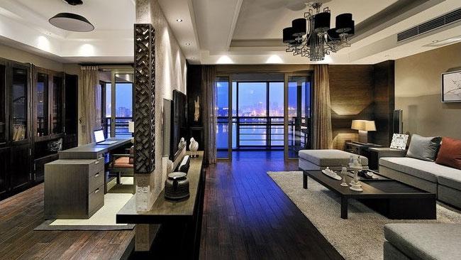 现代 新中式 二居 三居 别墅 白领 收纳 旧房改造 80后 客厅图片来自周楠在蓝爵公馆的分享