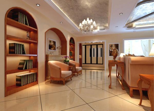 造型简洁大方,没有过多的装饰效果,但免不了在一些细节处做处理,客厅休闲区墙造型被安置在空间结构的交汇处,与一幅色彩鲜艳的油画想呼应,敞开的客厅提供了一个视觉中心,且充分利用空间。