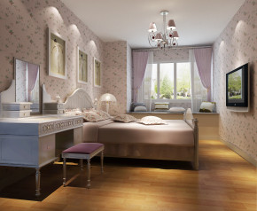 现代 高度国际 时尚 白富美 中铁花语城 二居 三居 白领 80后 卧室图片来自北京高度国际装饰设计在中铁花语城婚房浪漫两居的分享