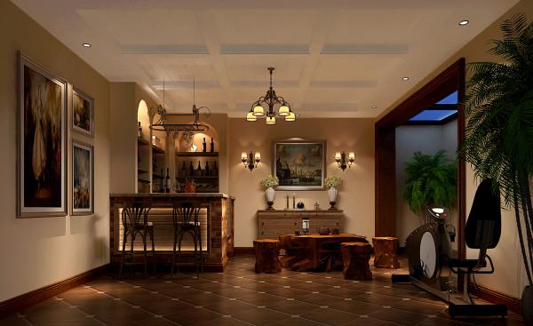 挑高客厅设计,让空间多了一分气势昂然的豪华感。家具,配饰均采用米色系列,展现出欧式贵族的生活情调,通过设计师对元素的简化设计,并在空间融合,使之成为适合现代人居住的典雅空间。