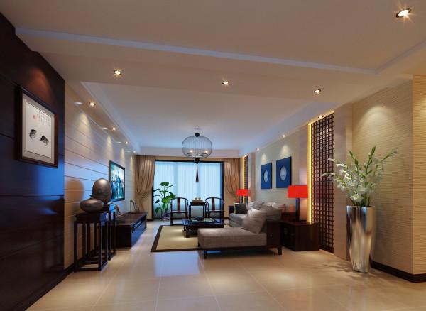 """客厅里花窗的运用是恰到好处,让平白的空间气韵生动,""""隔而不断"""",还有很强的装饰性;细节不在多而在巧妙,便能以少胜多,起到画龙点睛的作用。"""