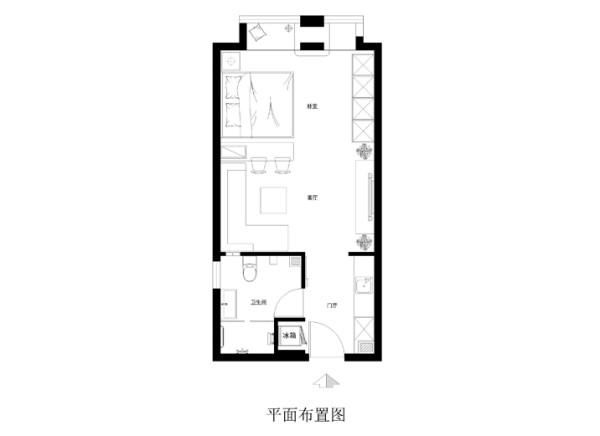 昌平区首开智慧社54平米布置图