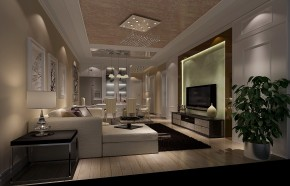 世华泊郡 高度国际 时尚 白富美 三居 二居 白领 80后 现代 客厅图片来自北京高度国际装饰设计在世华泊郡现代精简两居的分享