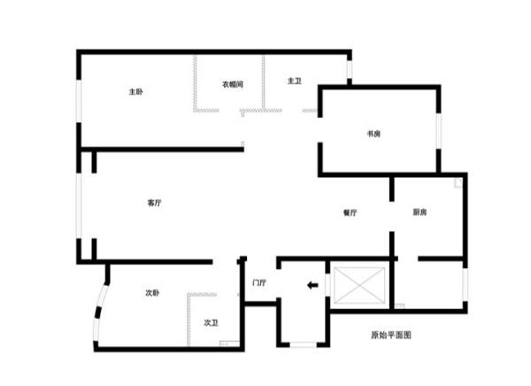 上林世家180平米原始户型图
