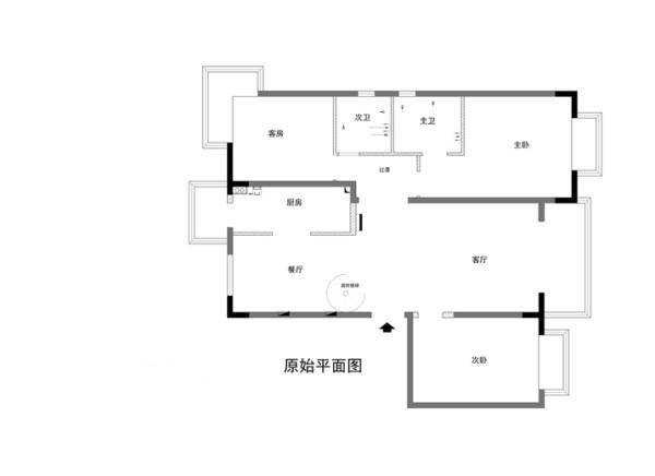 海淀区尚峰尚水140平米原始户型图