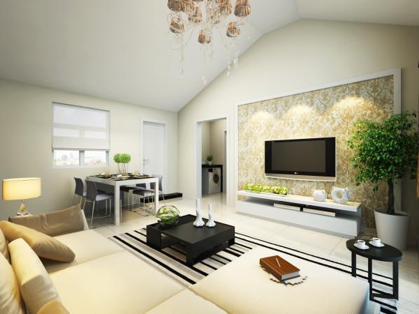 6.7万打造超强清新92平绚丽浪漫小空间-客厅装修效果图
