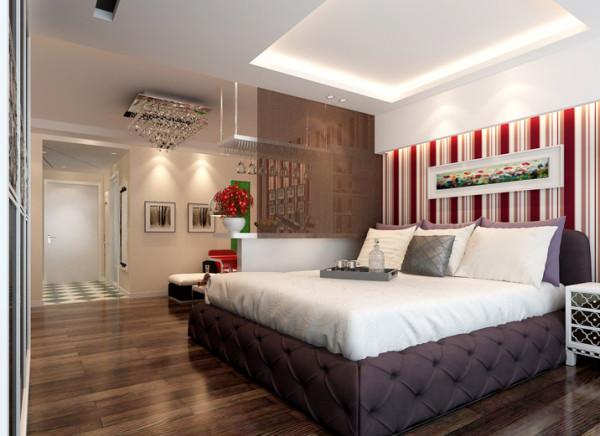 透过简约与经典构成的画面,呈现生活的美好质感,与客厅紧密相连的卧室跳脱传统的封闭式设计,直接以艺术吧台作为区隔,展现人文粹炼精神