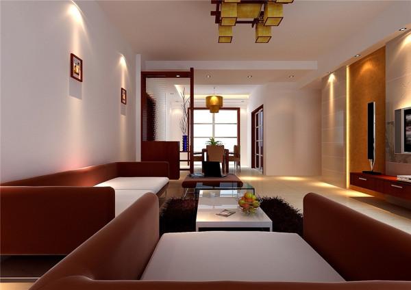 厨房门原来是单开门,现在改成了推拉门,目的是想把厨房及餐厅连成一起,可以使这里的视觉增大,出入也比较方便。客厅电视墙比较大,如不做处理,以后会显得很单调,设计手法使用石膏板加局部壁纸,简单而有层次感。
