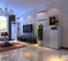 电视墙采用较为浅色的壁纸做装饰,整个给人感觉很舒服。