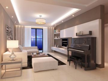上海国际华城三居室现代风格设计