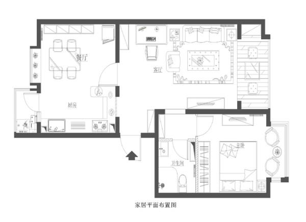 朝阳区京旺家园90平米布置图