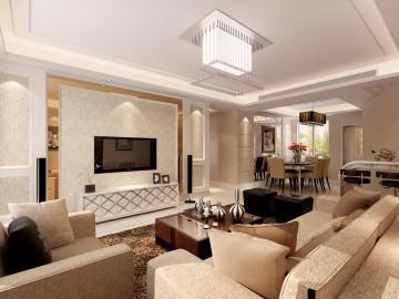 上海绿城三居室现代简约风格设计