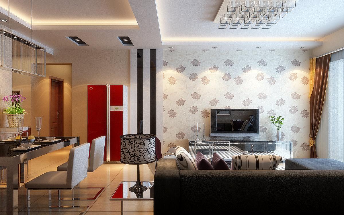 客厅图片来自西安今朝装饰新浪总站在陕西西安今朝装饰现代装修的分享