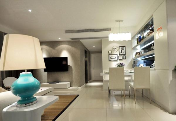 济南实创装饰装修-中海国际社区87平米-现代简约风格装修案例效果图