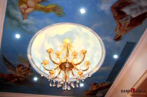 欧式 别墅 高富帅 别墅装饰 奢华 熙园 客厅 吊灯 其他图片来自名雕丹迪在迷恋·奢华—熙园欧式别墅的分享