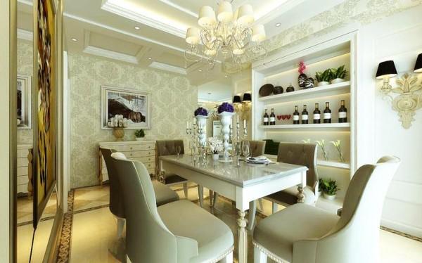 现代感的奢华并不一定需要通过复杂的手笔才能体现,简单与实用相并存的设计理念同样可以使业主所追求的奢华感得以体现,该餐厅设计既是如此。
