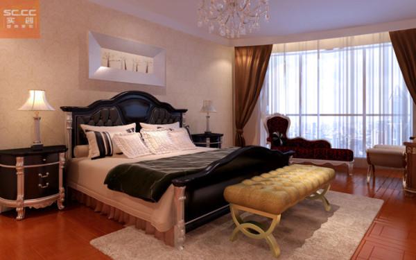 盛邦大都会-124平米三居装修-卧室效果图