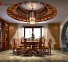 名雕丹迪别墅装饰设计—兰乔圣菲中式别墅—餐厅
