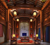 名雕丹迪别墅装饰设计—兰乔圣菲中式别墅—客厅