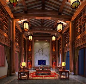中式 别墅 中式别墅 别墅装饰 高富帅 豪宅 兰乔圣菲 中式客厅 客厅图片来自名雕丹迪在兰乔圣菲顶级中式别墅的分享