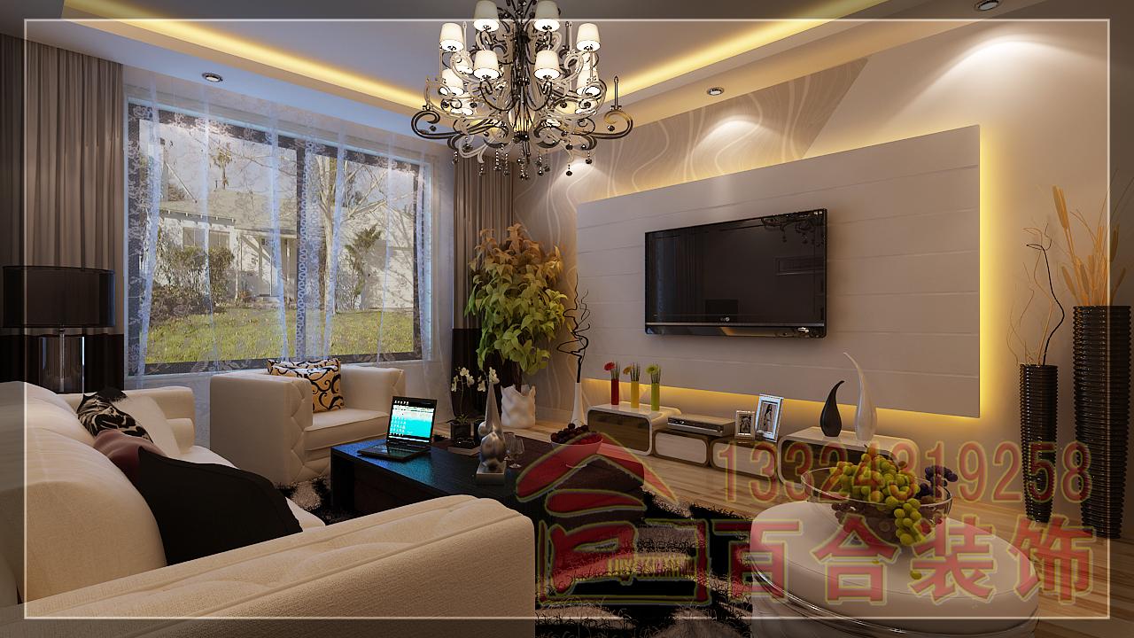 客厅图片来自吉林百合装饰集团在南湖公馆的分享