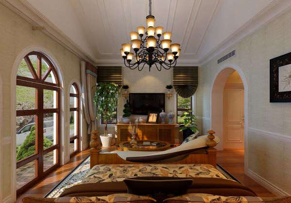 """设计理念:以人与自然生活为中心的空间规划,才是真设计"""".将乡村感觉的小木屋房顶引入室内空间。亮点:天花板用递进式的条木加以装点,加深了视觉上的景深,色泽沉稳的木地板沉淀了空间的气势,令空间尽显内敛与幽深."""