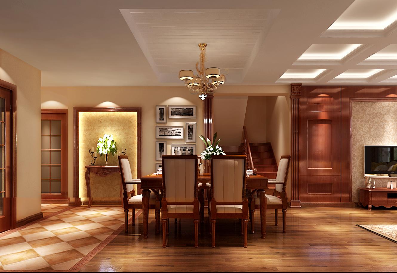 简约 欧式 四居 高度国际 时尚 白富美 白领 80后 别墅 餐厅图片来自北京高度国际装饰设计在鲁能7号院260平简欧平层的分享
