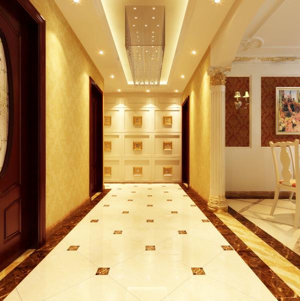 门厅、过道是本案的亮点,此处为符合客户的需求,设计一面照片展示墙,收藏主人幸福瞬间的同时,并且把次卫门采用隐形设计方式藏嵌于内。达成整面空间的完整、统一!