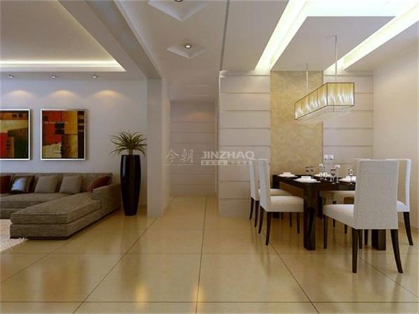 餐厅:餐厅的设计一白色为主,头顶上的吊灯将晚餐变得格外轻松愉快。