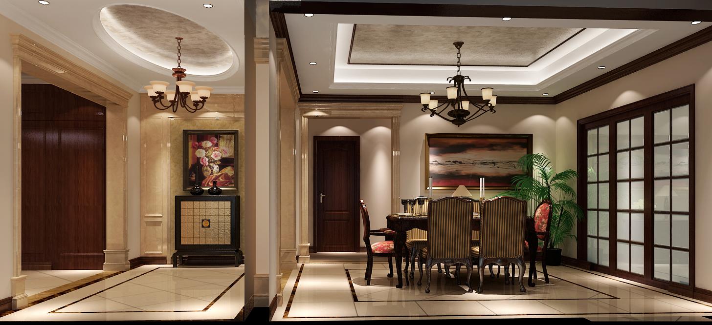 混搭 中式 欧式 公寓 西山壹号院 高度国际 白领 80后 白富美 餐厅图片来自北京高度国际装饰设计在西山壹号院中西混搭平层的分享