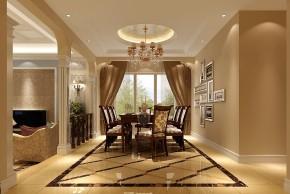 别墅 孔雀城 混搭 三居 白领 80后 白富美 时尚 高度国际 餐厅图片来自北京高度国际装饰设计在潮白河孔雀城380平混搭别墅的分享