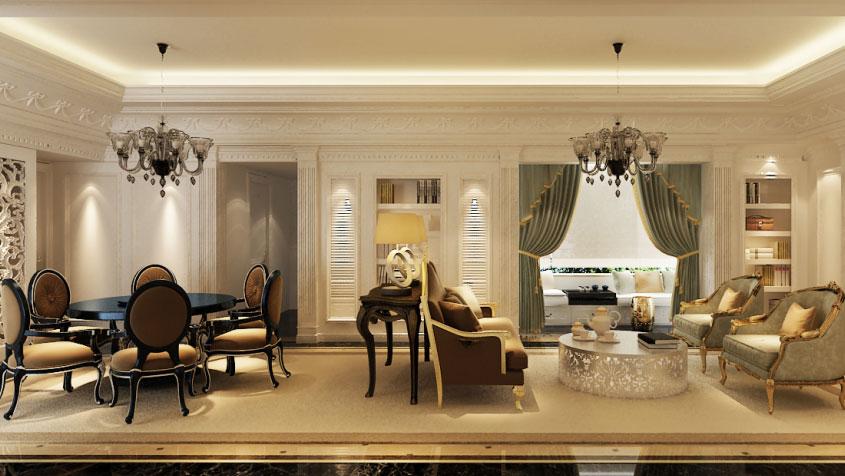 新古典 二居 三居 别墅 白领 收纳 旧房改造 80后 小资 客厅图片来自周楠在北辰上院新古典的分享