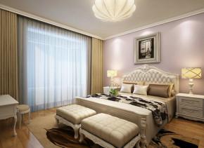 武汉实创 森林小镇 欧式 三居 高富帅 卧室图片来自静夜思在现代森林小镇139平欧式生活的分享