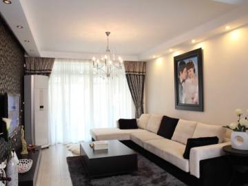 小资生活的二居室婚房装修实景图