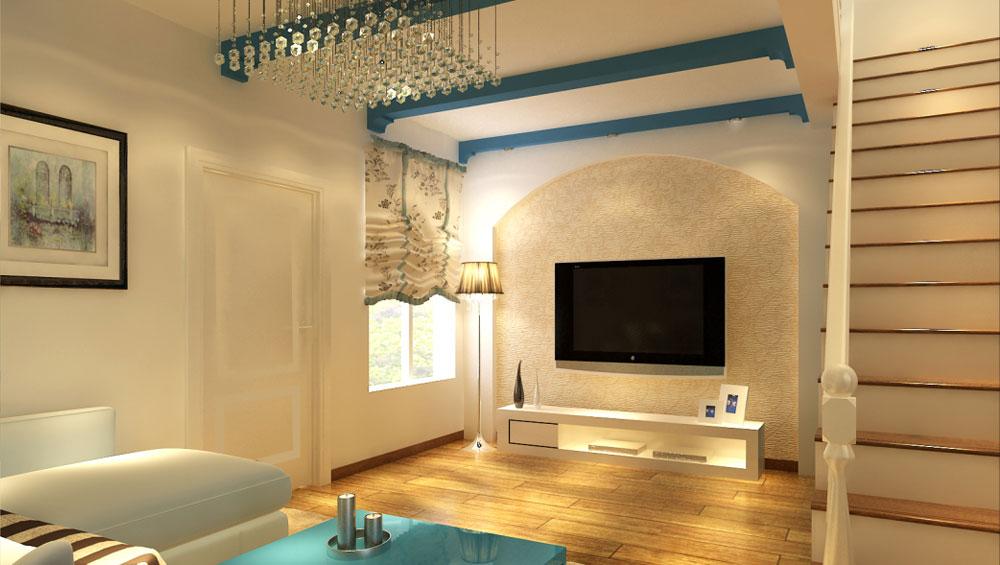 地中海 二居 三居 别墅 白领 收纳 旧房改造 80后 小资 客厅图片来自周楠在地中海风格的分享