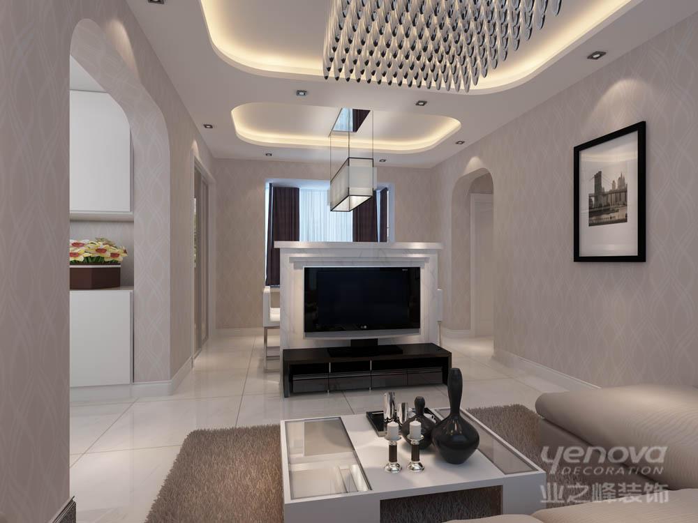 客厅图片来自天津业之峰装饰在爱尚公寓简约两居室的分享