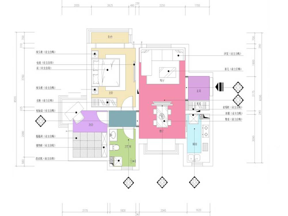 户型图图片来自天津业之峰装饰在爱尚公寓简约两居室的分享