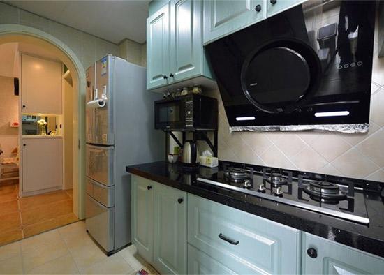 混搭 美式 地中海 鑫苑世家 厨房图片来自沪上名家装饰在鑫苑世家美式地中海混搭实景的分享