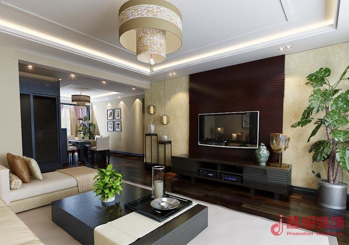 中式 晋级装饰 小资 沈阳装修 室内设计 长青湾 客厅图片来自晋级装饰东方在金地长青湾178平米中式风格的分享