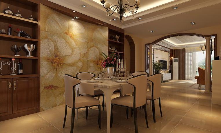 新芒果和郡 简欧风格 餐厅图片来自美巢装饰在新芒果和郡143三室简欧设计的分享