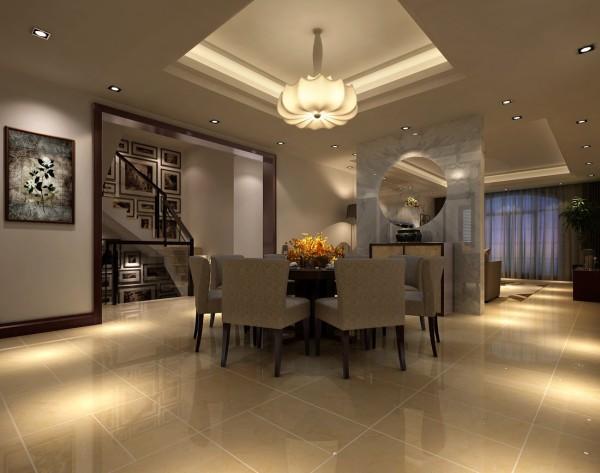 金科王府新中式风格装修案例之餐厅