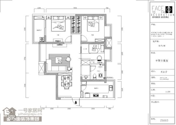 户型解析 优点:各功能布局分布较均匀 缺点:客餐厅采光不太理想,厨房功能设备摆放无法理想法,背景墙与飘窗连在一起
