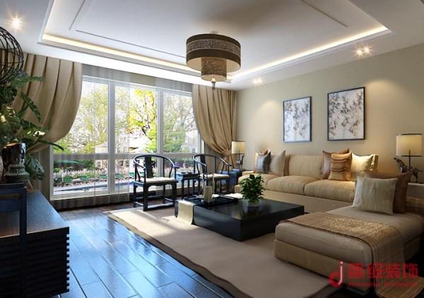 本案设计采取现代中式风格。设计中加入简单干净的家居和配饰,天花简单做个区域划分,使整个空间更加有层次。颜色方面多运用深木色和米黄色为主调,更加体现现代中式风格的和谐之美。