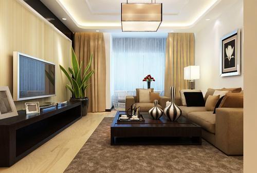 装饰材料与色彩设计为现代风格的室内效果提供了空间背景。 首先,在选材上不再局限于石材、木材、面砖等天然材料。