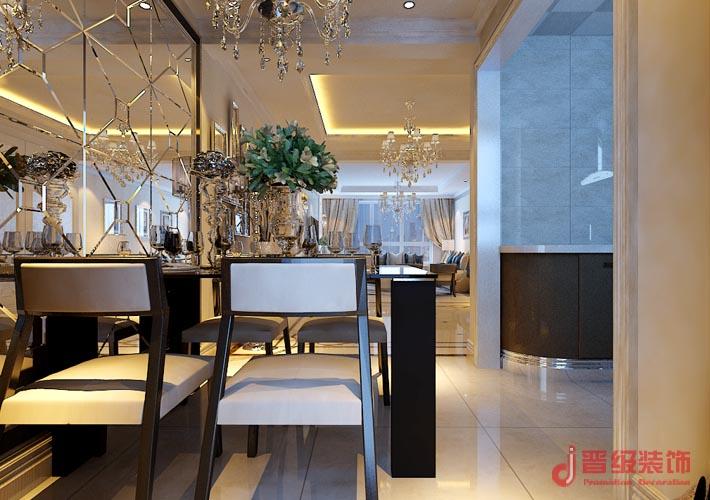 混搭 三居 80后 晋级装饰 沈阳装修 沈阳装饰 室内设计 餐厅图片来自晋级装饰东方在优品天地115平混搭风的分享